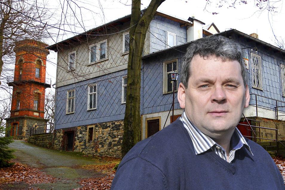 Auch Kottmar-Bürgermeister Michael Görke ist froh, dass der Rechtsstreit um die Kottmarbaude ein Ende hat.