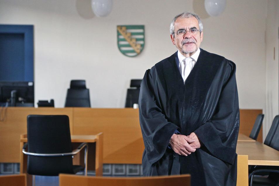 Amtsgerichtsdirektor Herbert Zapf leitet in der Regel die Verhandlungen des Jugendschöffengericht in Riesa. Das Gros der Verfahren betrifft die Jugendbande aus dem Raum Nünchritz, sagt er.