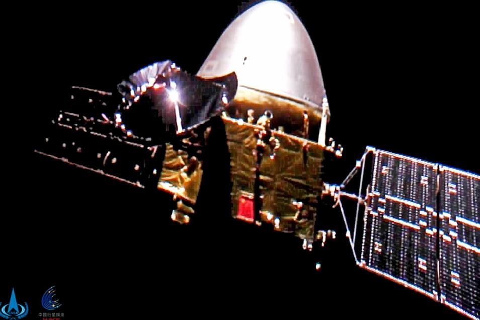 """Mehr als ein halbes Jahr nach ihrem Start ist die chinesische Sonde """"Tianwen 1"""" in eine Umlaufbahn um den Mars eingeschwenkt."""