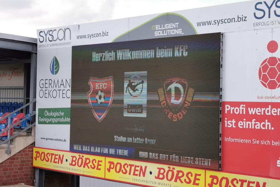 Um 14 Uhr trifft Dynamo Dresden heute auf den KFC Uerdingen. Gespielt wird im Stadion am Lotter Kreuz, der Ersatzspielstätte der Uerdinger.