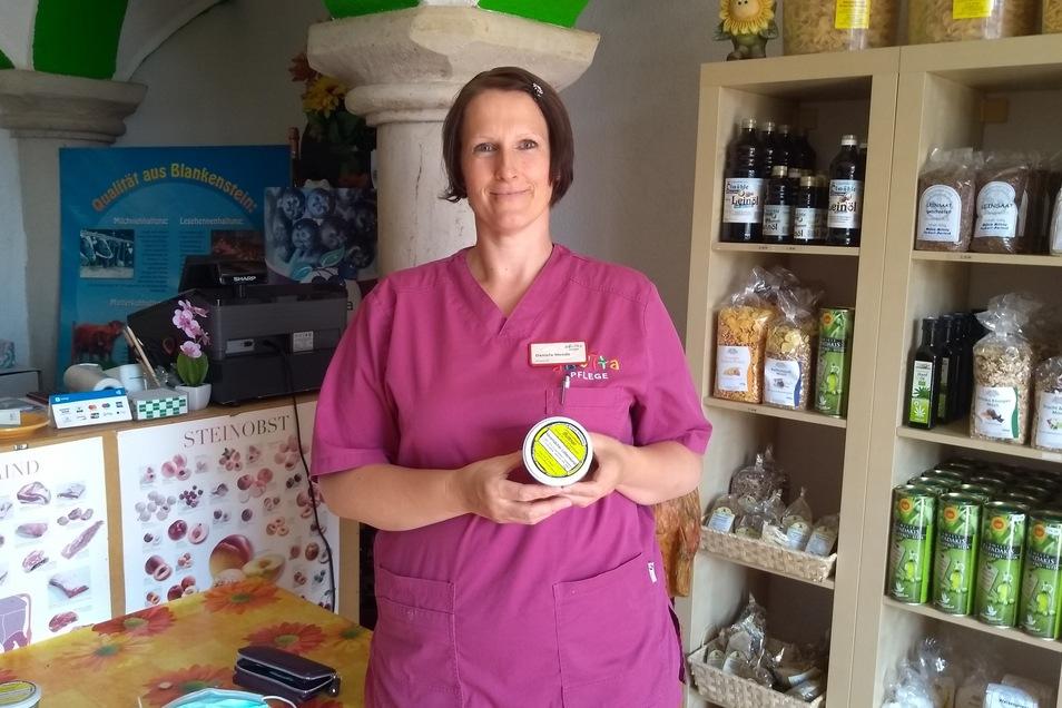 Daniela Mende kauft gern im Hofladen ein. Die Blankensteinerin, die bei einem Pflegedienst arbeitet, schätzt die Qualität der Produkte.
