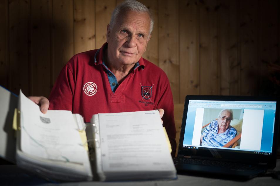 Professor Achim Trogisch aus Dresden musste um die Bankvollmacht für seine pflegebedürftige Cousine Jutta Topka kämpfen. Weil sie 330 Kilometer entfernt wohnt, kann er nur digital mit ihr kommunizieren.