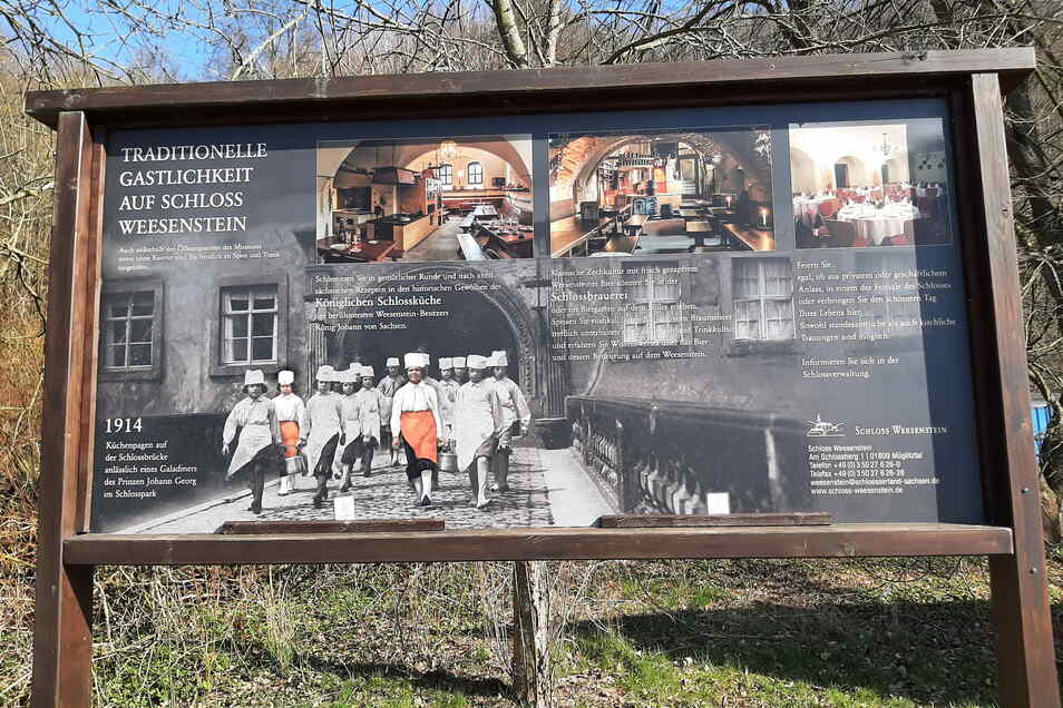 Die Gastronomie auf Schloss Weesenstein hat eine lange Tradition, zurzeit aber keinen Betreiber.