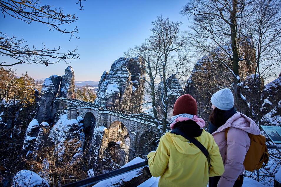 Super-Winter-Wetter lockte im letzten Jahr zahlreiche Ausflügler auf die Bastei.