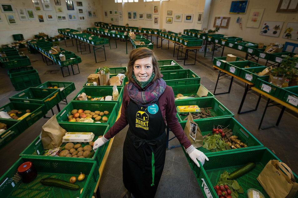 """Fanny Schiel organisiert an mehreren Orten """"Marktschwärmer"""": Sie bringt Kunden und regionale Gärtner zusammen."""