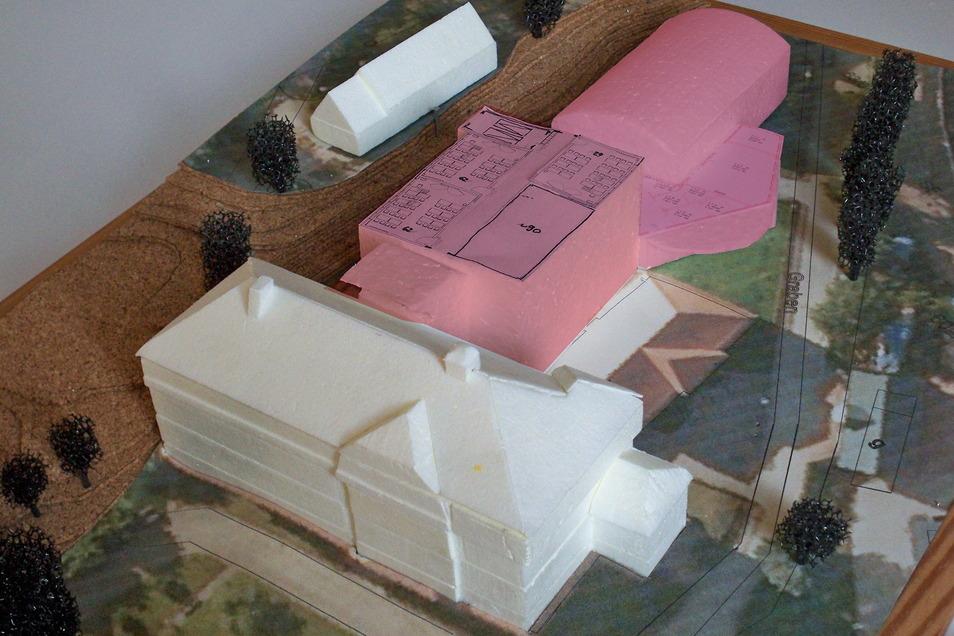 Dieses Modell des Planungsbüros IPRO Consult aus dem Jahr 2014 zeigt, wie eine Erweiterung der Oberschule Schmiedeberg aussehen könnte.