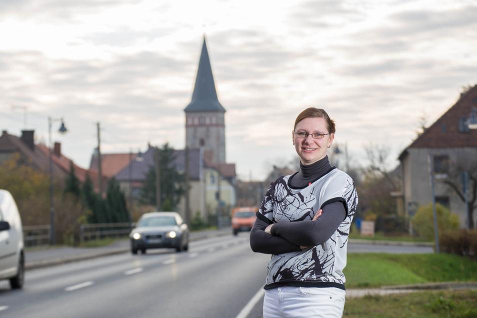 Dana Dubil in ihrem Wohnort Kodersdorf.