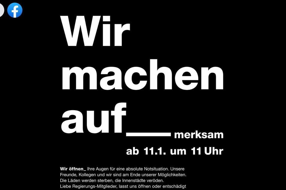 Mit diesem Aufruf machten Händlerinnen und Händler deutschlandweit auf ihre Situation aufmerksam.