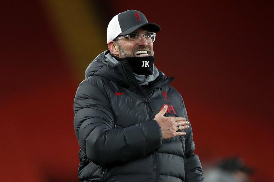 Feiert mit Liverpool Erfolge: Die deutsche Trainerlegende Jürgen Klopp.