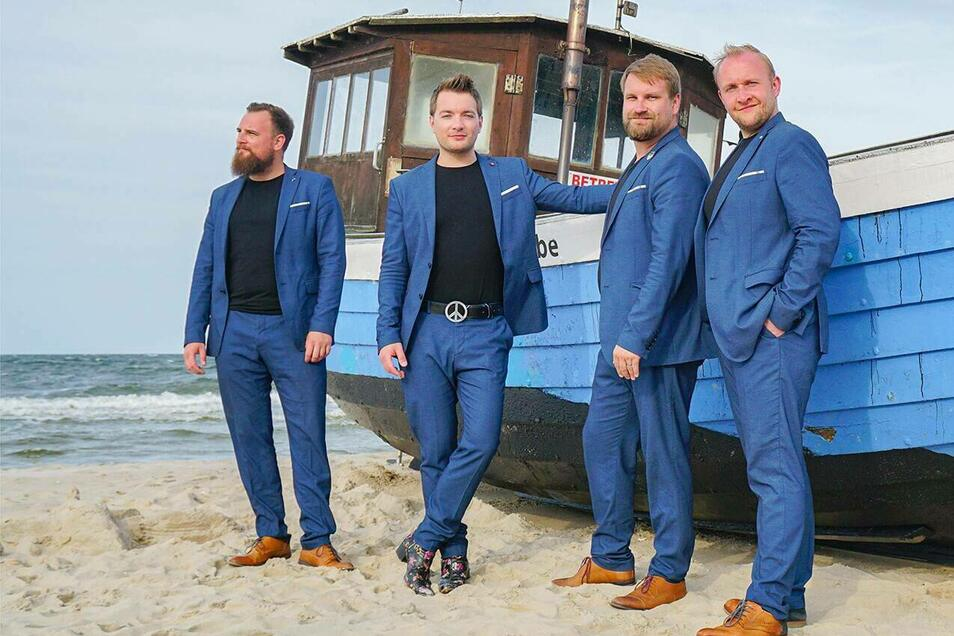 Die Dresdner Comedy-Pop-Band Notendealer gibt am 31. Juli, 20 Uhr ein Konzert bei den Freiberger Sommernächten.
