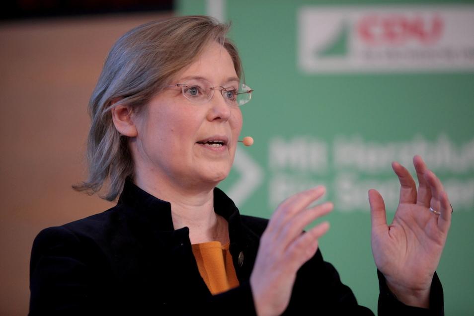 """""""Es ist nicht so, dass man hier mit einer siegessicheren Haltung antritt"""", sagt CDU-Kandidatin Corinna Franke-Wöller."""