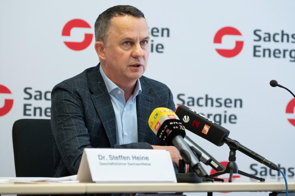 Steffen Heine ist der Geschäftsführer von Sachsen-Netze. Man nehme den Stromausfall zum Anlass, das Umspannwerk Dresden Süd, aber auch andere Anlangen auf ihre Sicherheit zu überprüfen, sagte er am Dienstag.