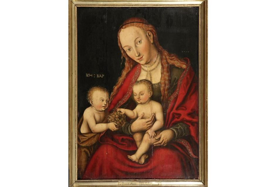 Hier noch mal in Nahaufnahme: Madonna hält das Jesuskind auf dem Schoß.