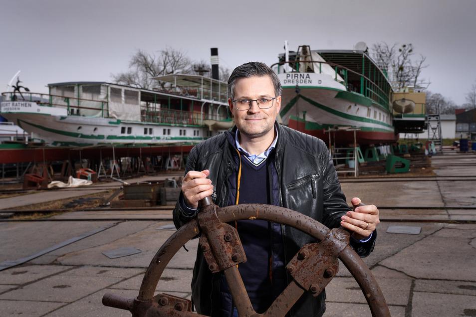 Sven Spielvogel hat das Ruder in der Werft übernommen und will sie mit neuen Ideen beleben.
