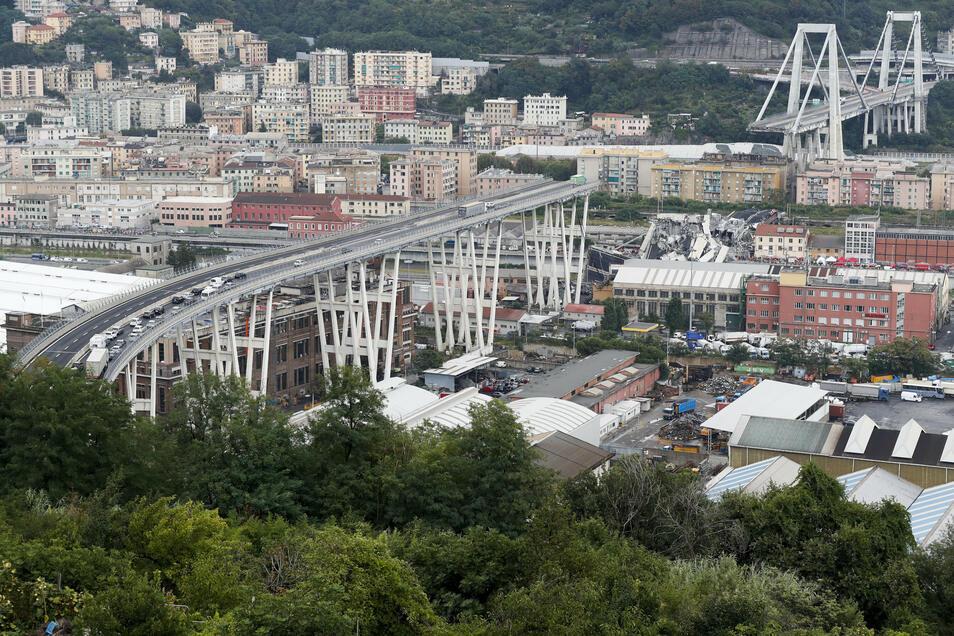Das Morandi-Viadukt war im August 2018 eingestürzt, 43 Menschen stürzten in die Tiefe und verloren ihr Leben.