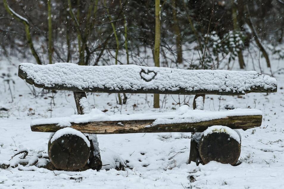 Schnee gibt es ausschließlich in höheren Lagen der Mittelgebirge.