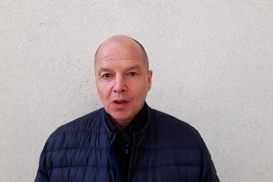 Das letzte Treffen vor zwei Monaten. Jörg Stübner wirkte beim Interview fahrig, das Sprechen fiel ihm schwer.