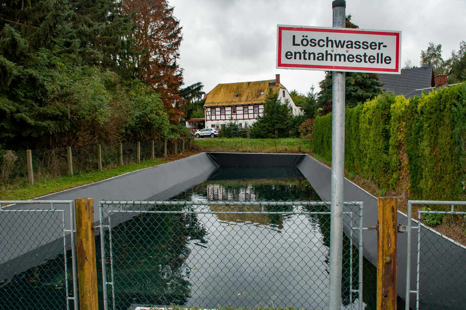 In Auerschütz wurde der Feuerlöschteich saniert.