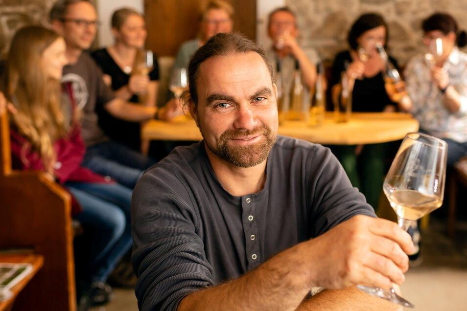 Stefan Bönsch öffnet sein Weingut am Wochenende für Besucher.