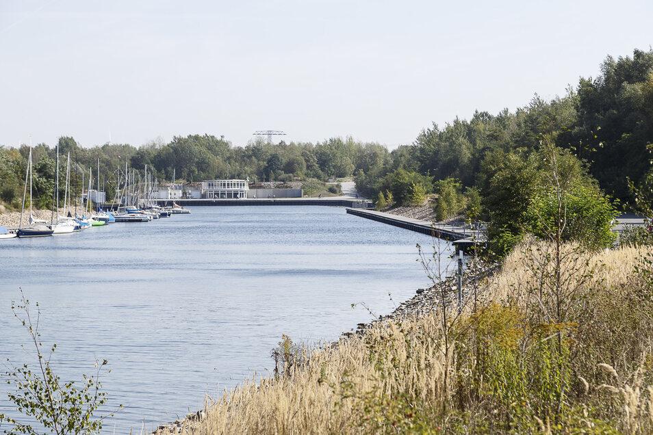 Der Hafen im ´Tauchritz am Berzdorfer See