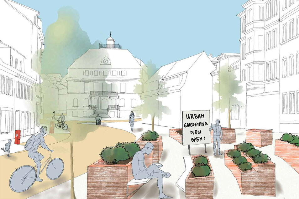 Die Kernstadt soll gemütliche Plätze bekommen. Diese Idee stammt von Nico Hilsky und Jonas Ben Corleis.