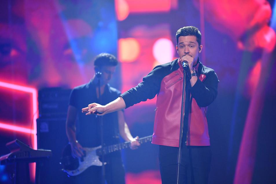 """Bei ProSieben gewann Nico Santos für Spanien mit dem Lied """"Like i love you"""" den """"Free European Song Contest""""."""