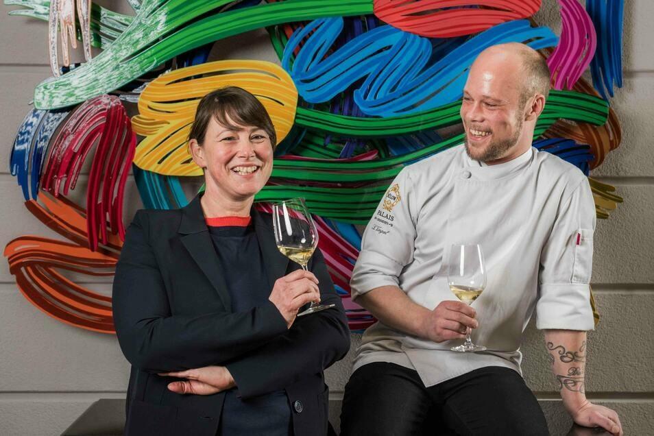 Sven Vogel und Jana Schellenberg aus dem Restaurant Caroussel haben einen Michelin Stern bekommen.