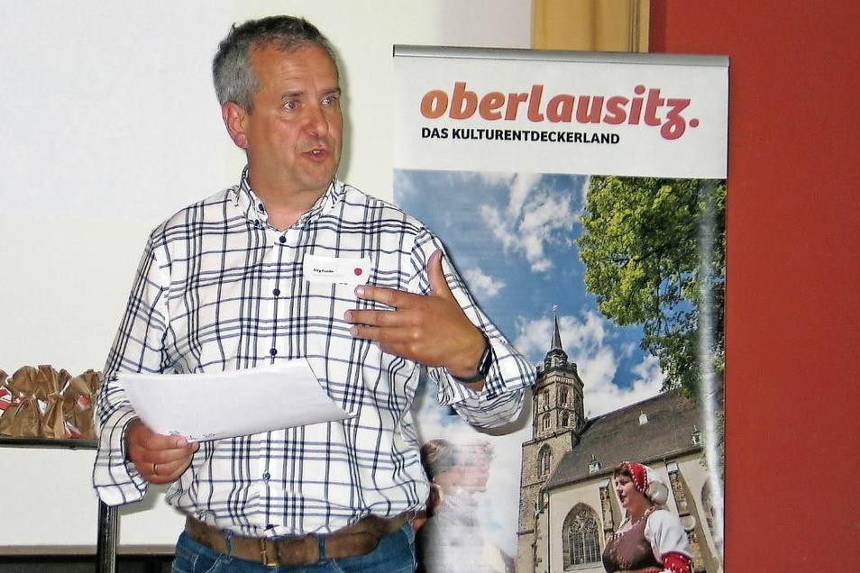 Der Schleifer Bürgermeister Jörg Funda sieht in mehr Kultur die Chance, den Pückler-Park als Welterbestätte auch den Einheimischen vertrauter zu machen.