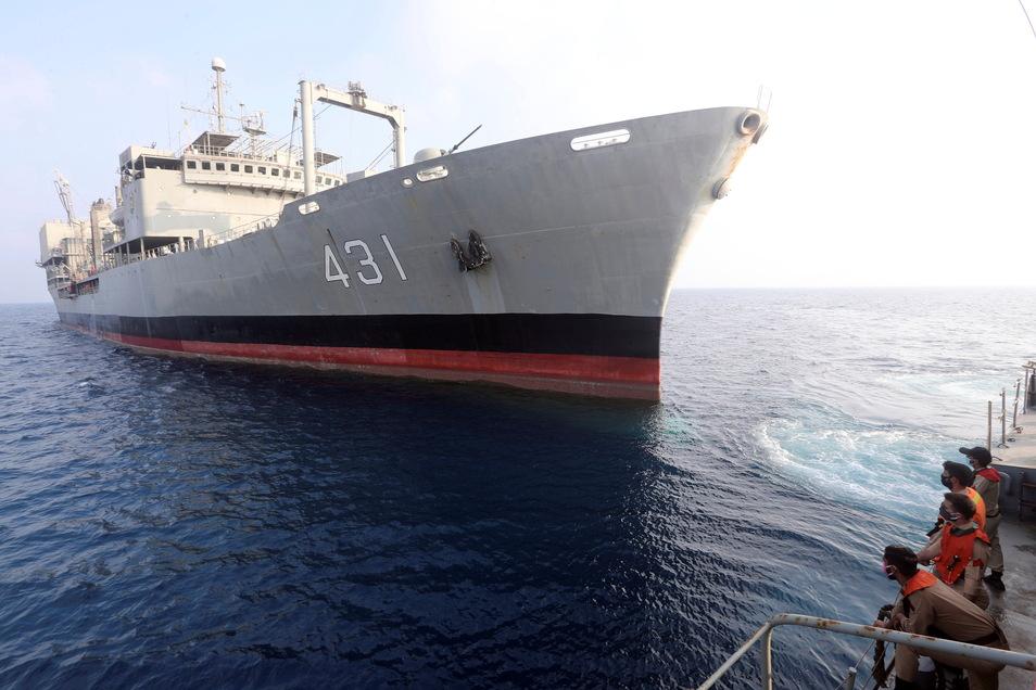 """Das iranische Marine-Schiff """"Charg"""" ist eines der größten Marineschiffe des Landes."""
