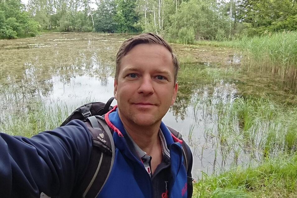 Thomas Peters privat: Selfie vom Wandern.