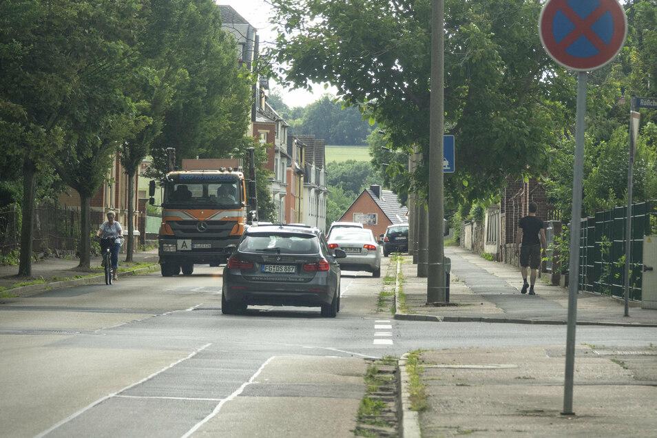 Die Roßweiner Straße in Döbeln soll gebaut werden. Doch darum gibt es nun Diskussionen.