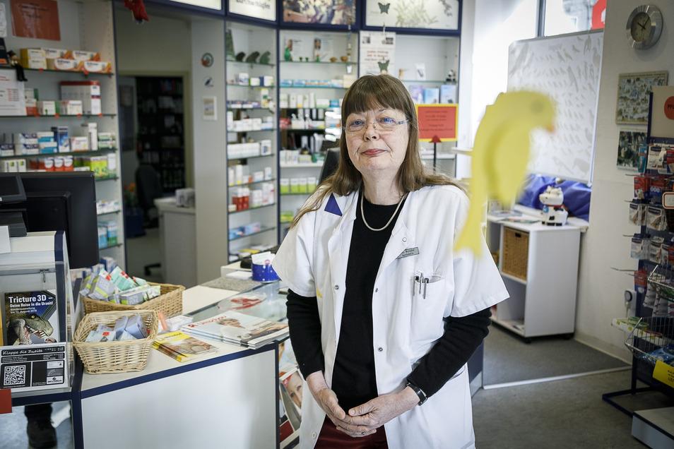 Leitet seit mehr als 20 Jahren die Humboldt-Apotheke in Görlitz: Brigitte Westphal.