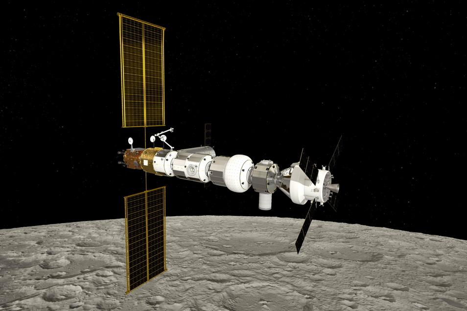 Gateway, das ist die gepante Basisstation für künftig Mondlandungen.