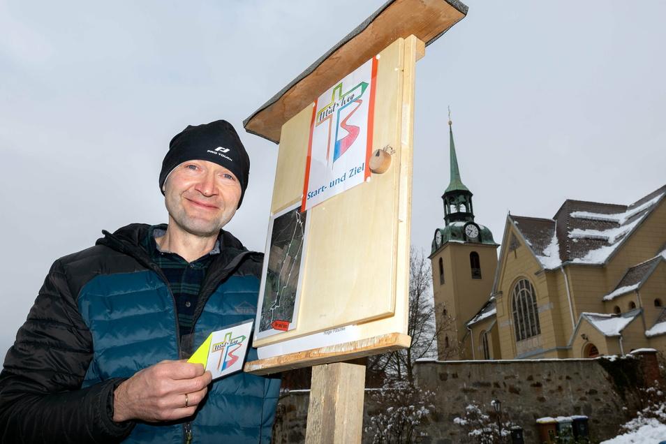 Wilthens Gemeindepädagoge Holger Pötschke lädt ab Sonntag auf den von ihm erdachten Mut-Weg an den Fuß des Mönchswalder Berges.