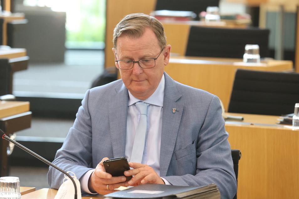 Bodo Ramelow (Die Linke) bleibt Ministerpräsident von Thüringen.