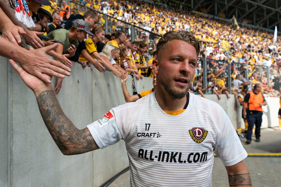 Die Berliner Fans dichteten ihm einst ein Lied, aber auch bei den Dynamo-Anhängern ist Patrick Ebert beliebt und wird anerkannt.