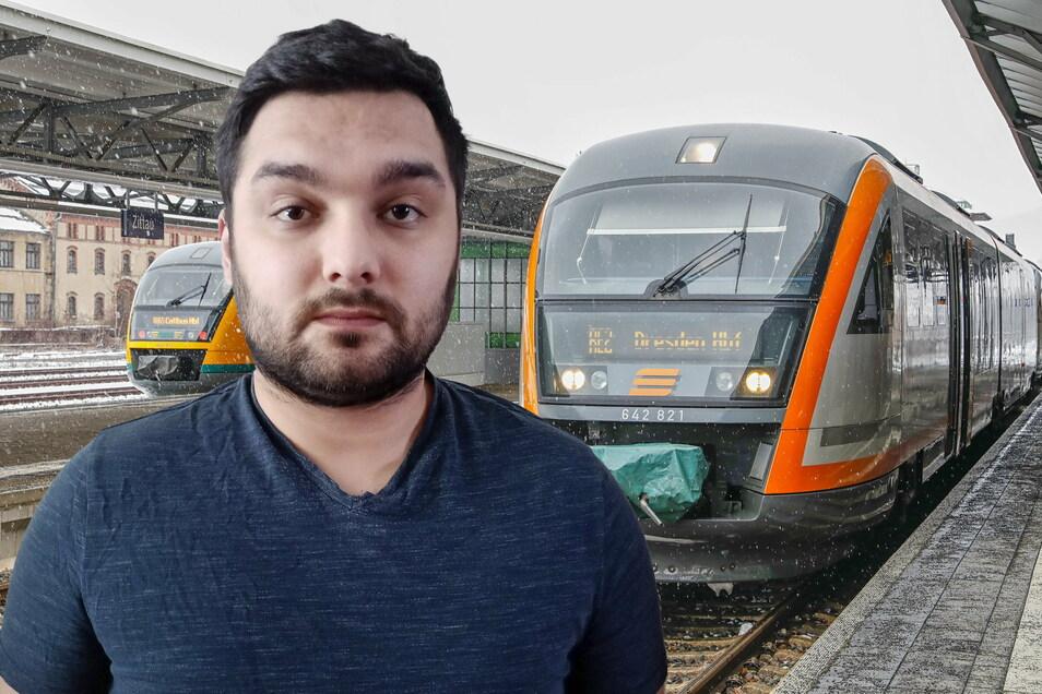 David Rudolph arbeitete einst bei der Länderbahn. Jetzt aber hat er Angst, in einen der Züge zu steigen.