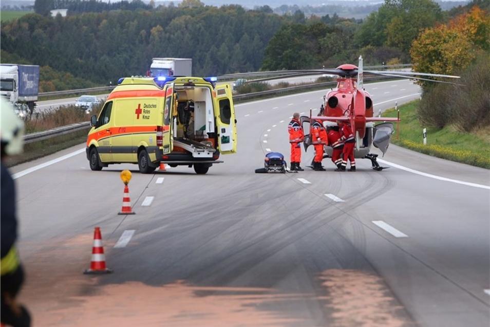 Ein Rettungshubschrauber kam zum Einsatz.