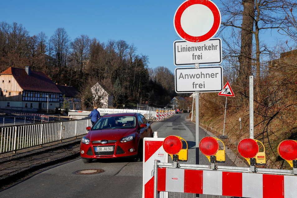 Die Herrnhuter Straße im Bernstädter Ortsteil Kunnersdorf ist ab Montag wieder voll gesperrt.