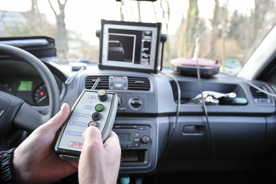 Geschwindigkeitsmessung in Görlitz: Die Daten können gleich vor Ort ausgewertet werden.