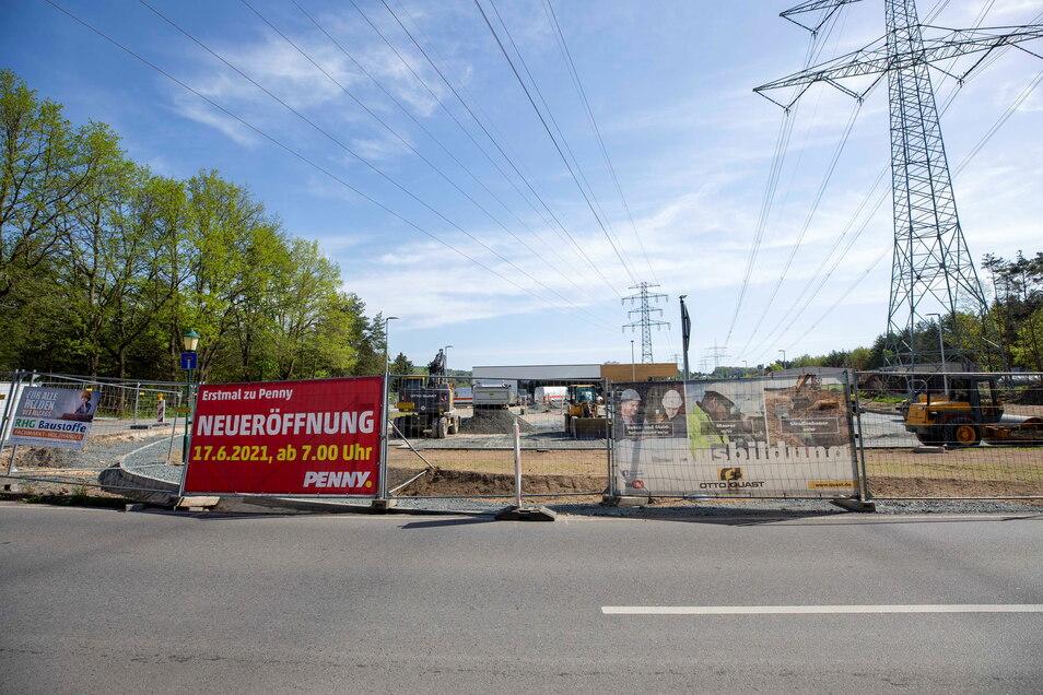 Der neue Pennymarkt in Graupa wird Mitte Juni eröffnet.
