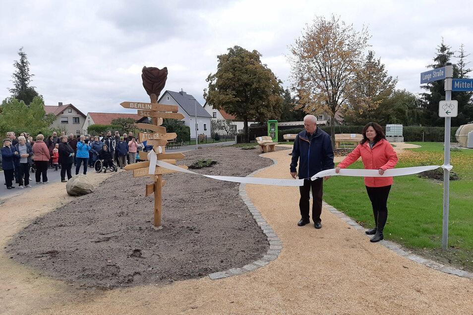 Mit der Einweihung des Rosengartens in See wurde ein weiterer Schritt zur Dorfverschönerung getan. In den kommenden zwei Jahren sollen solche Veränderungen in allen vier Ortsteilen möglich sein.