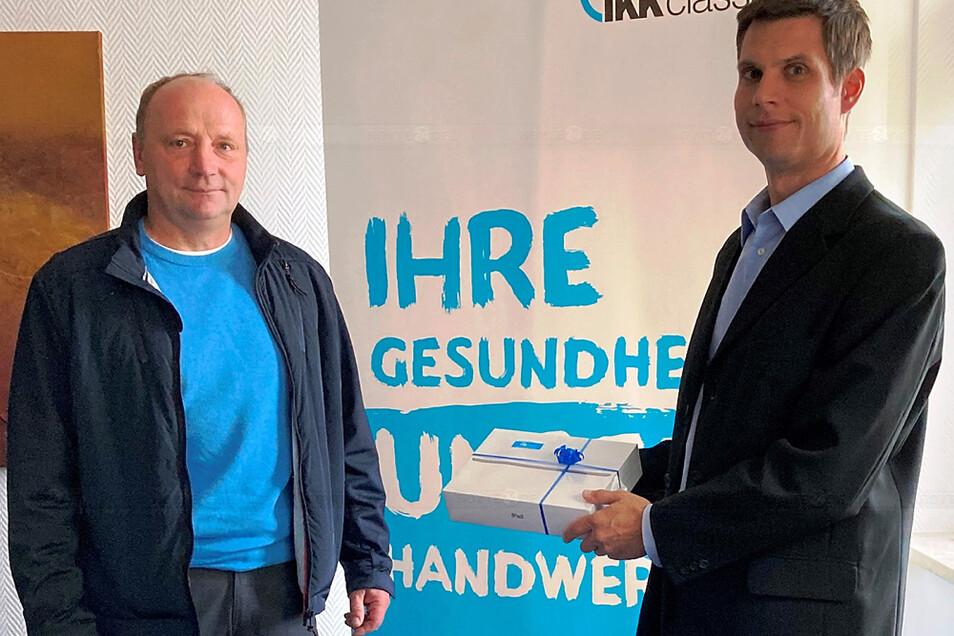 Der glückliche Gewinner: Jörg Winking aus Bernsdorf.