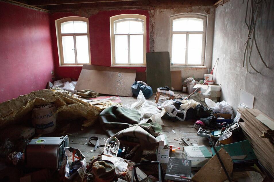 Ein Zimmer in der Villa Postplatz 6: So haben die letzten Bewohner es hinterlassen