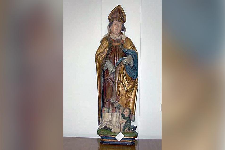 Wiedergefunden: der heilige Martin, Namenspatron der Kirche in Oberlungwitz.