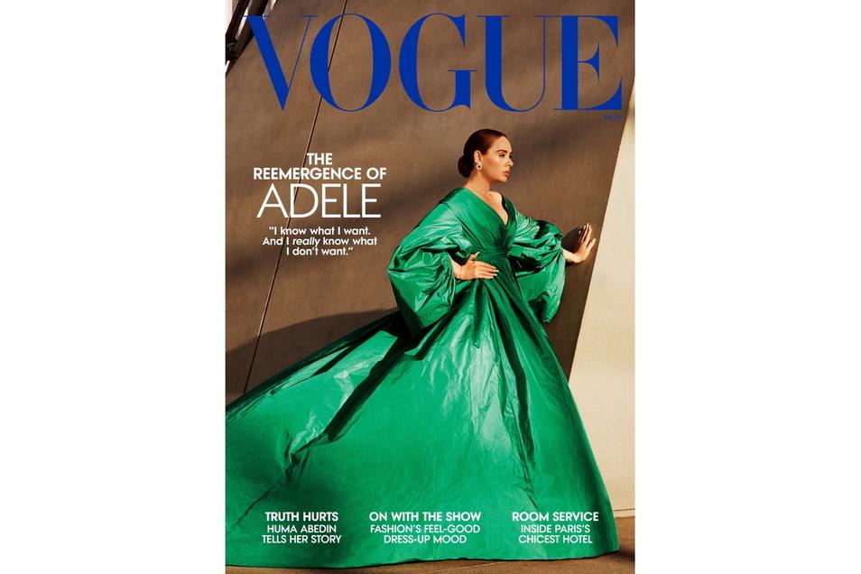 """Auf dem """"Vogue""""-Cover präsentiert sie sich glamourös und betont weiblich."""