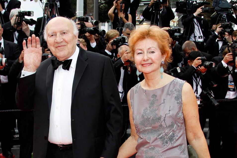 Michel Piccoli und seine Frau Ludivine Clerc 2014 bei den 67. Filmfestspielen von Cannes.