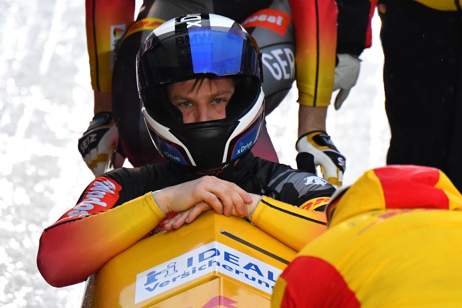 Im Ziel: Nico Walther beendet seine Karriere als Bobpilot.