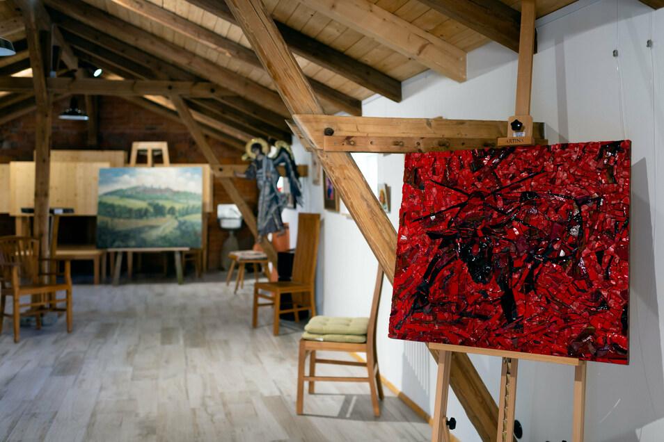 Das Landgut Lietze in Stolpen zeigt derzeit eine Ausstellung mit Mosaikkunst von Klaus-Peter Dyroff aus Schmiedeberg.