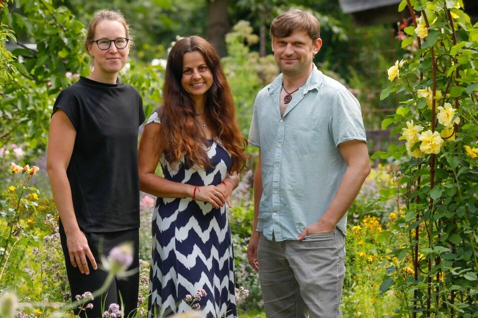 Sie bilden das neue Team: Barbora Bock, Patricia Steege und Steffen Tempel